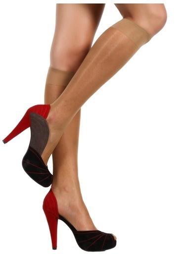 5'Li Likralı Parlak Dizaltı Çorap-U.S.Polo Assn.